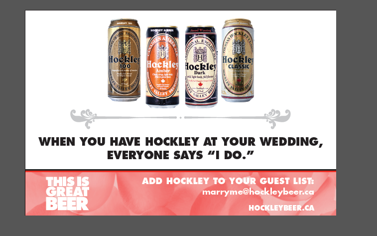 "Say ""I Do"" with Hockley Valley Beer"